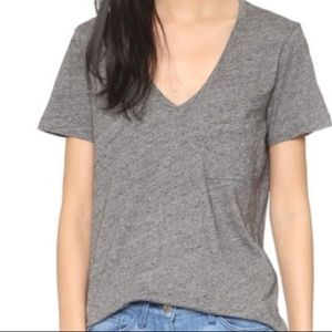 Madewell V neck t-Shirt stop Gray Size XS